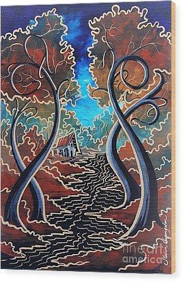 Bending Time Wood Print by Steven Lebron Langston