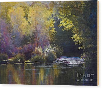 Bending With The River Wood Print by Vicky Russell