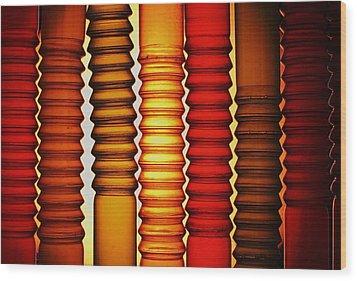 Bendy Straws Wood Print by John King
