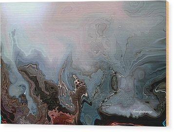 Beneath The Beautiful Deep Sea Wood Print by Sherri  Of Palm Springs