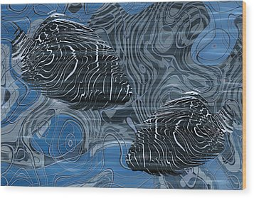 Beneath The Waves Series Wood Print by Jack Zulli