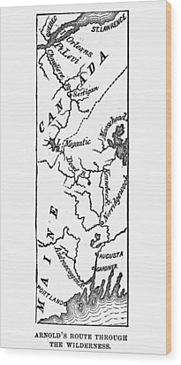 Benedict Arnold: Map, 1775 Wood Print by Granger