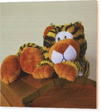 Bengal Tiger Abstract  Wood Print by Barbara Snyder