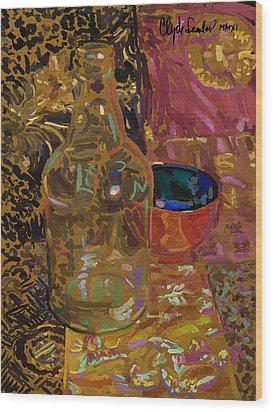 Wood Print featuring the digital art Benihana by Clyde Semler