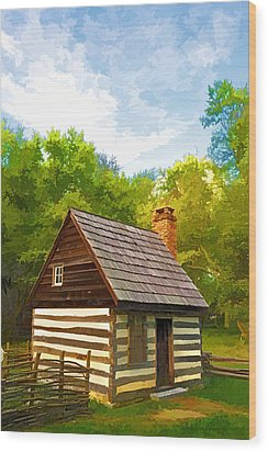 Wood Print featuring the photograph Benjamin Banneker Cabin by Dana Sohr