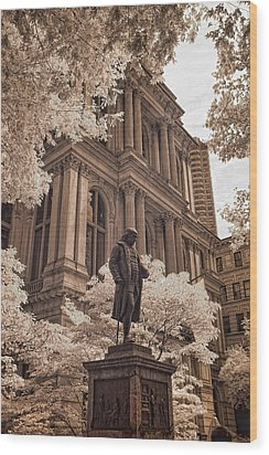 Benjamin Franklin Wood Print by Joann Vitali