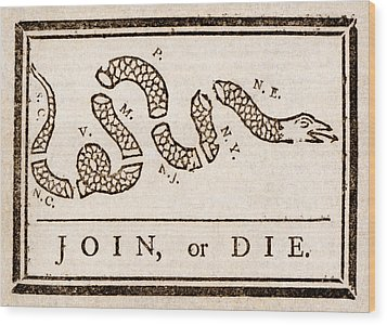 Benjamin Franklin's Join Or Die Cartoon Wood Print