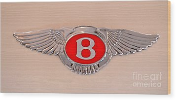 Bentley Emblem Wood Print