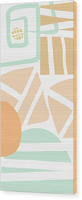 Bento 3- Abstract Shapes Art Wood Print by Linda Woods
