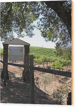 Benziger Winery In The Sonoma California Wine Country 5d24592 Vertical Wood Print by Wingsdomain Art and Photography