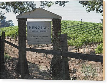 Benziger Winery In The Sonoma California Wine Country 5d24593 Wood Print by Wingsdomain Art and Photography