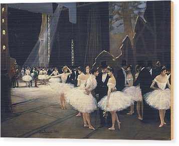 Beraud, Jean 1849-1935. Backstage Wood Print by Everett