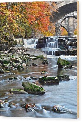 Berea Falls Ohio Wood Print by Frozen in Time Fine Art Photography