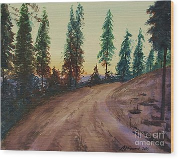 Wood Print featuring the painting Bergebo Forest by Martin Howard