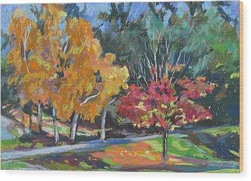 Berkshire Fall Wood Print