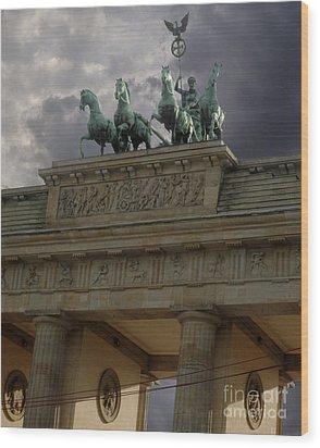 Berlin - Brandenburg Gate Wood Print by Gregory Dyer