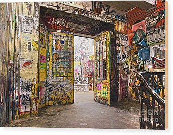 Berlin - The Kunsthaus Tacheles Wood Print