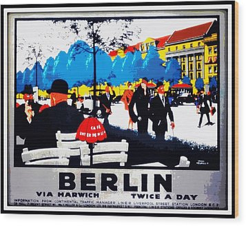 Berlin 1925 Wood Print by Unknown