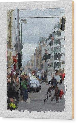 Berlin Checkpoint Charlie Wood Print by Steve K