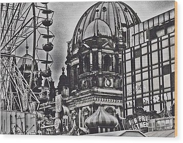 Wood Print featuring the photograph Berlin Christmas Market by Cassandra Buckley