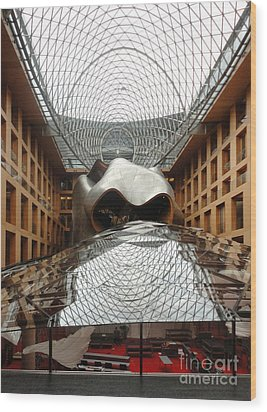 Berlin - Dz Bank Building - Frank Gehry Wood Print by Gregory Dyer