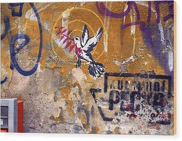Berlin Graffiti Wood Print