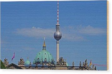 Berlin Wood Print by Kees Colijn