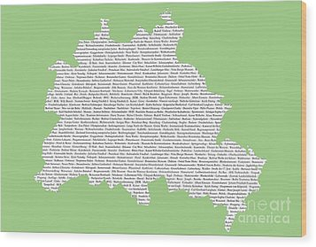 Berlin Map Typgraphy Wood Print by Art Photography