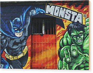 Berlin Monsta Door Wood Print by John Rizzuto