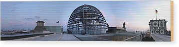 Berlin - Reichstag Panorama Wood Print by Gregory Dyer