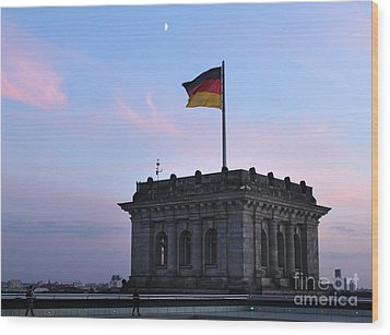 Berlin - Reichstag Roof - No.01 Wood Print by Gregory Dyer