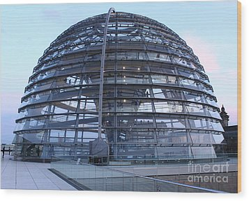 Berlin - Reichstag Roof - No.02 Wood Print by Gregory Dyer