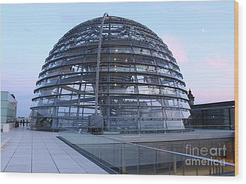 Berlin - Reichstag Roof - No.03 Wood Print by Gregory Dyer