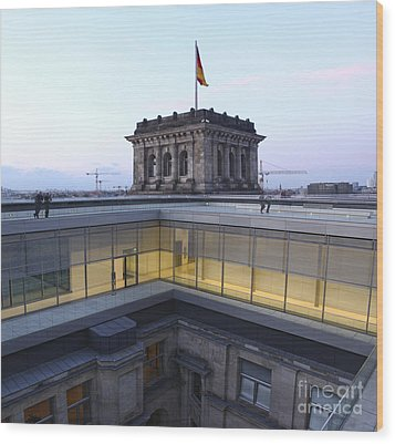 Berlin - Reichstag Roof - No.04 Wood Print by Gregory Dyer