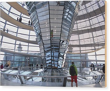 Berlin - Reichstag Roof - No.05 Wood Print by Gregory Dyer
