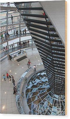 Berlin - Reichstag Roof - No.06 Wood Print by Gregory Dyer