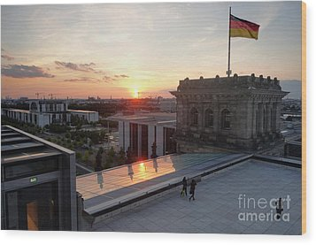 Berlin - Reichstag Roof - No.07 Wood Print by Gregory Dyer