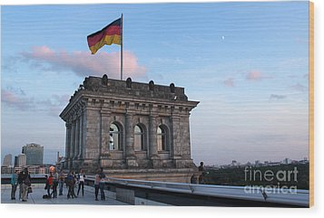 Berlin - Reichstag Roof - No.09 Wood Print by Gregory Dyer