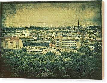 Berlin - Stylized To Old Wood Print by Gynt