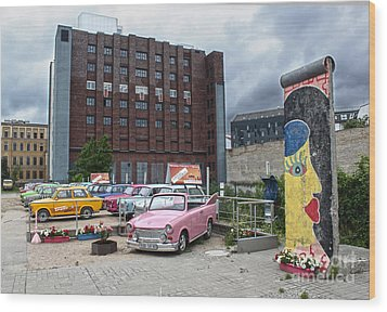 Berlin - Trabi Safari - No.01 Wood Print by Gregory Dyer