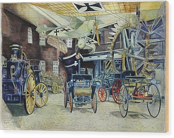 Berlin Transport And Technology Museum Wood Print by Leisa Shannon Corbett
