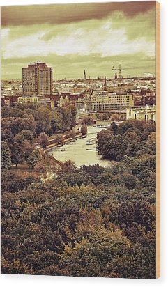 Berlin / View Wood Print by Gynt