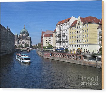Berliner Dom And Nikolaiviertel Wood Print by Art Photography