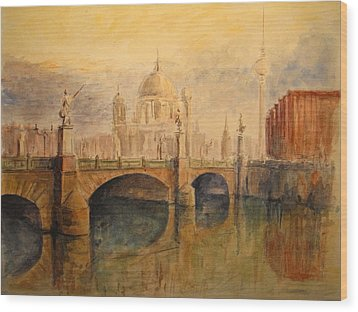 Berliner Dom Wood Print by Juan  Bosco