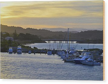 Bermagui River Sunset Wood Print by Marty  Cobcroft