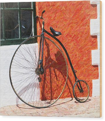 Wood Print featuring the photograph Bermuda Antique Bicycle by Verena Matthew