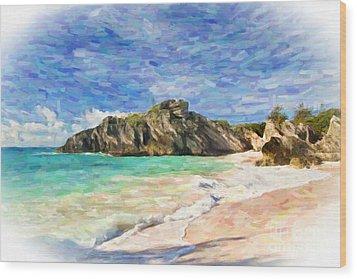 Bermuda Beach Wood Print