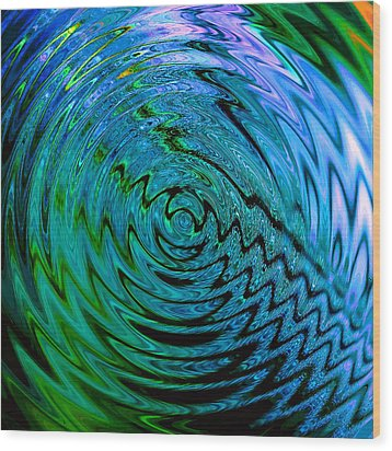 Bermuda Blue Wood Print by Michael Durst