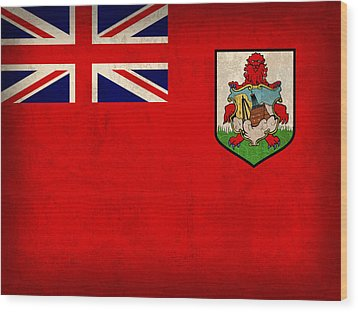 Bermuda Flag Vintage Distressed Finish Wood Print by Design Turnpike