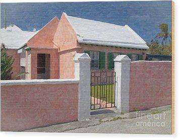 Wood Print featuring the photograph Bermuda Garden Gate by Verena Matthew